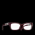 Lunettes chanel femme eyewear balducelli opticiens montbeliard 3326HB bijou luxz pierre perles strass haute couture unique edition limitée rouge argent
