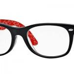 LES LUNETTES rayban optique balducelli opticiens montbeliard plastique noir new wayfarer rouge icône