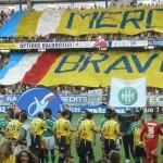 balducelli opticiens partenaire fcsm montbéliarde stade bonal depuis 1960 jaune et bleu