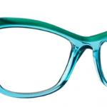 Lunettes optique Caroline abram design paris femme feminine papillon vert turquoise transparent lucie
