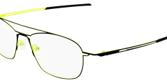 lunettes parasite eyewear homme fine metal noir jaune fluo pilote moderne futuriste légère balducelli opticiens montbeliard
