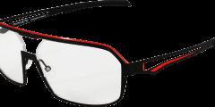Lunettes parasite eyewear zeta noir rouge pilote futuriste homme moderne balducelli opticiens montbeliard