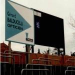 balducelli opticiens gerard laurent partenaires historiques fc sochaux panneaux stade bonal