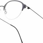 lunettes minima légère discrete percée nylon ronde grise