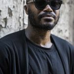 djibril cissé par bleu mode lunettes laurent balducelli made in france opticien lunetier montbéliard paris monture exclusive