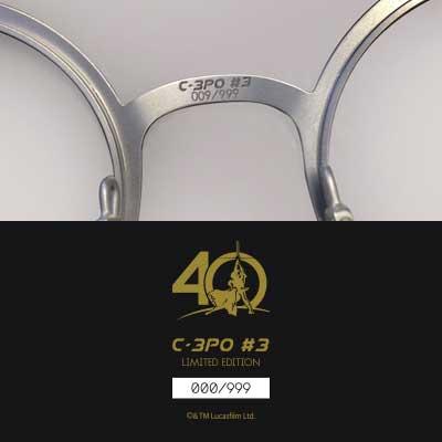 lunettes star wars c3PO balducelli montbéliard limited france gold round