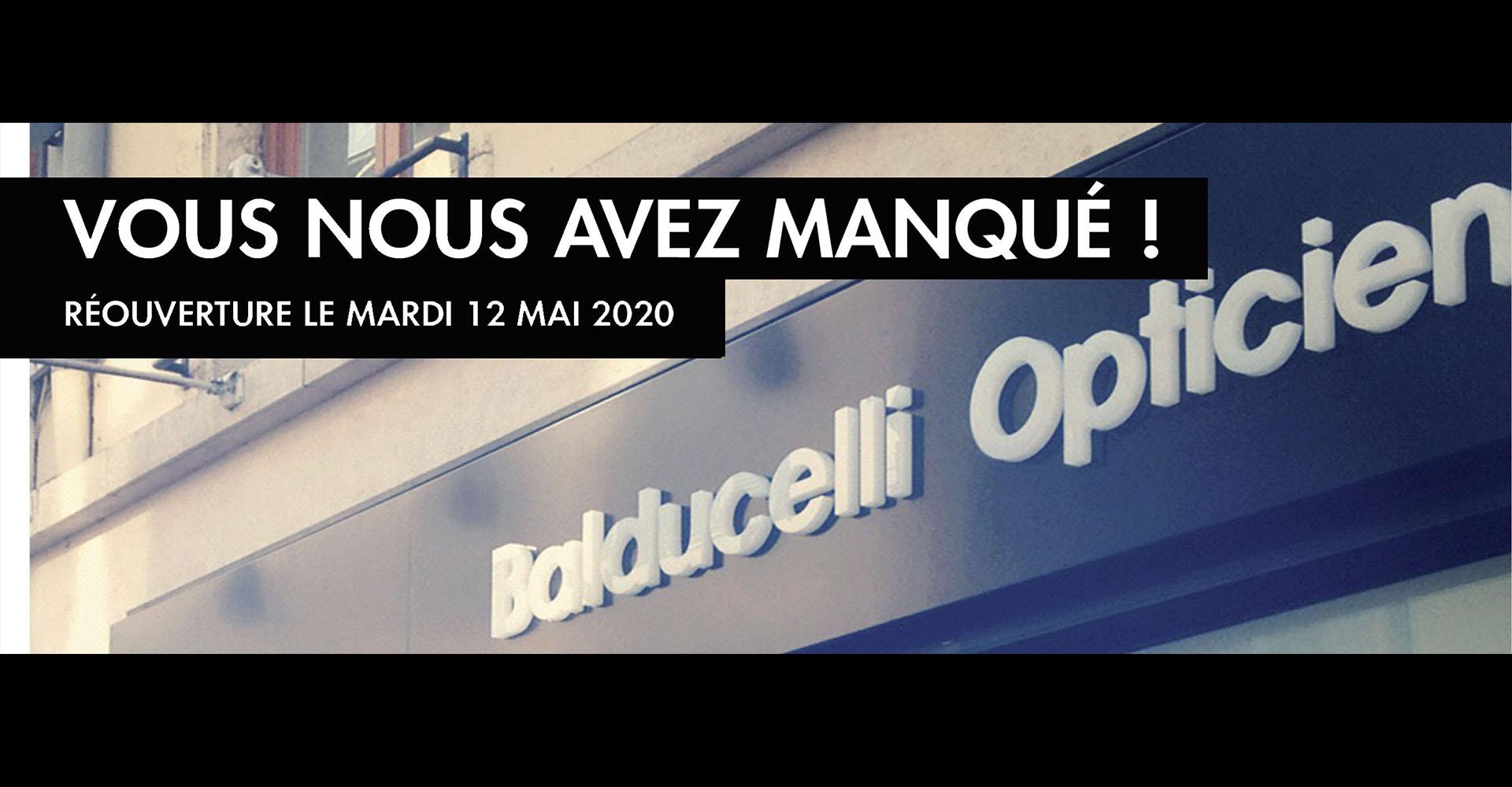 Lunettes Balducelli réouverture
