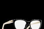 Lunettes chanel femme eyewear balducelli opticiens montbeliard 3284 noir beige noeud cuir rectangle