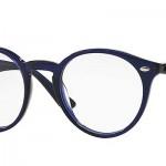 LES LUNETTES rayban optique balducelli opticiens montbeliard plastique bleue ronde retro nez chez femme