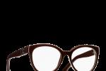 Lunettes chanel femme eyewear balducelli opticiens montbeliard 3308 marron légère ronde épaisse double c plastique 3308
