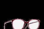 Lunettes chanel femme eyewear balducelli opticiens montbeliard 3282 ultra fine rouge transparente ronde nez clef double c
