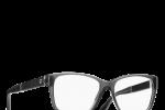 Lunettes chanel femme eyewear balducelli opticiens montbeliard 3310Q gris foncée cuir double c rectangle