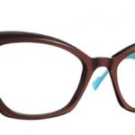 Lunettes optique Caroline abram design paris femme feminine papillon haute marron bleu turquoise Ingrid