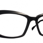 Lunettes optique Caroline abram design paris femme feminine rectangle noire mat chic iona