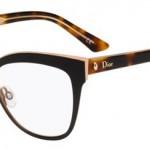 lunettes optique dior Montaigne 11 balducelli opticiens montbéliard papillon métal noir doré or écaille épaisse