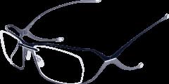 lunettes parasite eyewear homme fine metal double branche noir argent moderne futuriste légère balducelli opticiens montbeliard