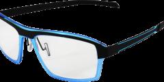 lunettes parasite homme bleu noir légère futuriste metal balducelli opticiens montbeliard futur 2
