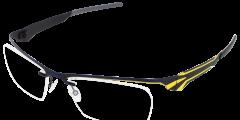Lunettes parasite eyewear bleu jaune metal légère fine balducelli opticiens montbeliard sochaux audincourt