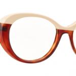 Lunettes optique Caroline abram design paris femme feminine ronde ovale haute asymétrique marron beige Mya